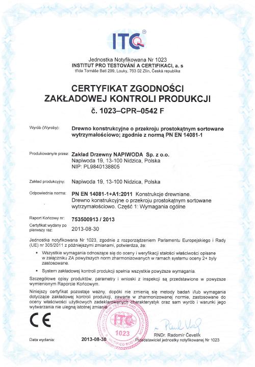 Certyfikat FCS